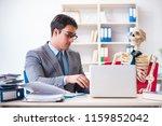businessman working with... | Shutterstock . vector #1159852042