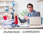 businessman working with... | Shutterstock . vector #1159852045