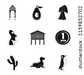 foreign land icons set. simple... | Shutterstock .eps vector #1159852702