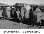 unidentified maasai men on oct... | Shutterstock . vector #1159853842