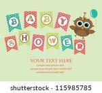 baby shower design. vector... | Shutterstock .eps vector #115985785