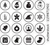 christmas vector icons set | Shutterstock .eps vector #1159871902