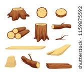 wooden trunk materials set... | Shutterstock .eps vector #1159875592
