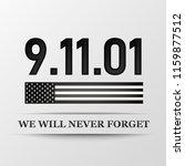11 september. patriot day. we... | Shutterstock .eps vector #1159877512