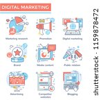 marketing concept icons  thin... | Shutterstock .eps vector #1159878472