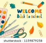 welcome back to school. banner | Shutterstock .eps vector #1159879258