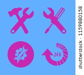 wrench vector icons set. with... | Shutterstock .eps vector #1159880158