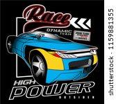 fastest racing car team vector... | Shutterstock .eps vector #1159881355