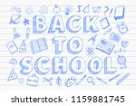 back to school banner with with ... | Shutterstock .eps vector #1159881745