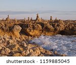 stone figures or pile of stones ... | Shutterstock . vector #1159885045