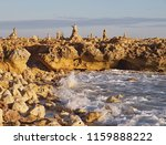 stone figures or pile of stones ... | Shutterstock . vector #1159888222