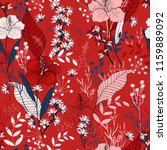 botanical motifs. isolated... | Shutterstock .eps vector #1159889092