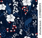 trendy floral pattern. isolated ... | Shutterstock .eps vector #1159889095