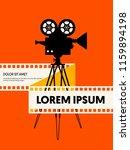 movie and film modern retro... | Shutterstock .eps vector #1159894198
