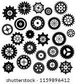 collection of retro gear icon.... | Shutterstock .eps vector #1159896412