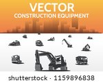 heavy construction machinery... | Shutterstock .eps vector #1159896838