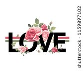 love. print for t shirt with... | Shutterstock .eps vector #1159897102