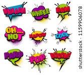 whee pop parp oh no set hand...   Shutterstock .eps vector #1159906078