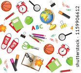 stationery  school items... | Shutterstock .eps vector #1159906612