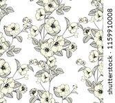 abstract seamless chrysanthemum ... | Shutterstock . vector #1159910008