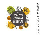 autumn harvest festival. farm... | Shutterstock .eps vector #1159910155