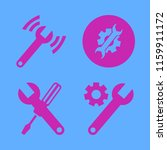 wrench vector icons set. with... | Shutterstock .eps vector #1159911172