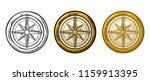 compass rose isolated on white... | Shutterstock .eps vector #1159913395