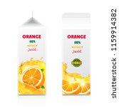 orange juice packaging design... | Shutterstock .eps vector #1159914382