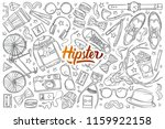 hand drawn hipster elements and ... | Shutterstock .eps vector #1159922158