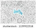 hand drawn smart city set... | Shutterstock .eps vector #1159922518