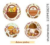 autumn stickers in circles... | Shutterstock .eps vector #1159928275