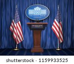 briefing of president of us... | Shutterstock . vector #1159933525