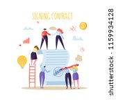 business characters signing... | Shutterstock .eps vector #1159934128