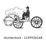steam engine car engraving... | Shutterstock . vector #1159936168