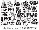 typography slogan girl power... | Shutterstock .eps vector #1159936285