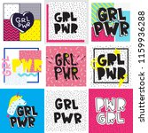 typography colorful slogan girl ... | Shutterstock .eps vector #1159936288
