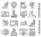 vector gray linear startup... | Shutterstock .eps vector #1159938418