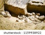 xian   jun 30 terracotta army... | Shutterstock . vector #1159938922