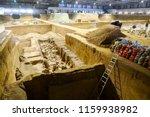 xian   jun 30 terracotta army... | Shutterstock . vector #1159938982