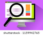 internet browsing from computer  | Shutterstock .eps vector #1159942765