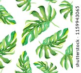watercolor tropical pattern... | Shutterstock . vector #1159943065