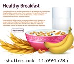 breakfast banner template with... | Shutterstock .eps vector #1159945285