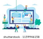 website construction  web... | Shutterstock .eps vector #1159946158