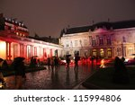 PARIS, FRANCE - OCT 6: 2012 Nuit Blanche in Paris. Nuit Blanche is an annual all-night or night-time arts festival. 2012's edition was organized on October 6, 2012 in Paris, France - stock photo