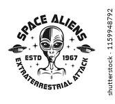 space aliens vector emblem in... | Shutterstock .eps vector #1159948792