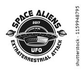 ufo vector emblem with text... | Shutterstock .eps vector #1159948795