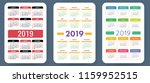 calendar 2019. colorful set.... | Shutterstock .eps vector #1159952515