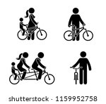 stick figure happy family... | Shutterstock .eps vector #1159952758