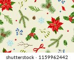 seamless pattern with winter... | Shutterstock .eps vector #1159962442