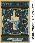 vector the finger symbol  obey... | Shutterstock .eps vector #1159962595